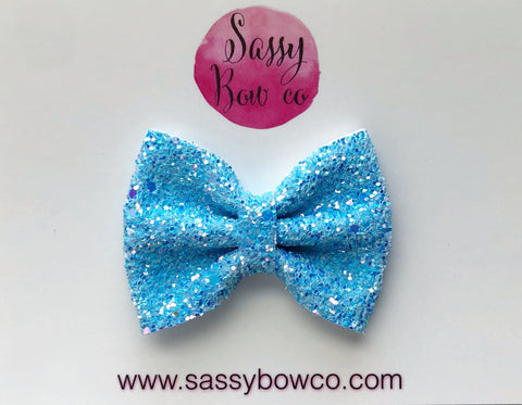 Small Glacier Glitter Bow
