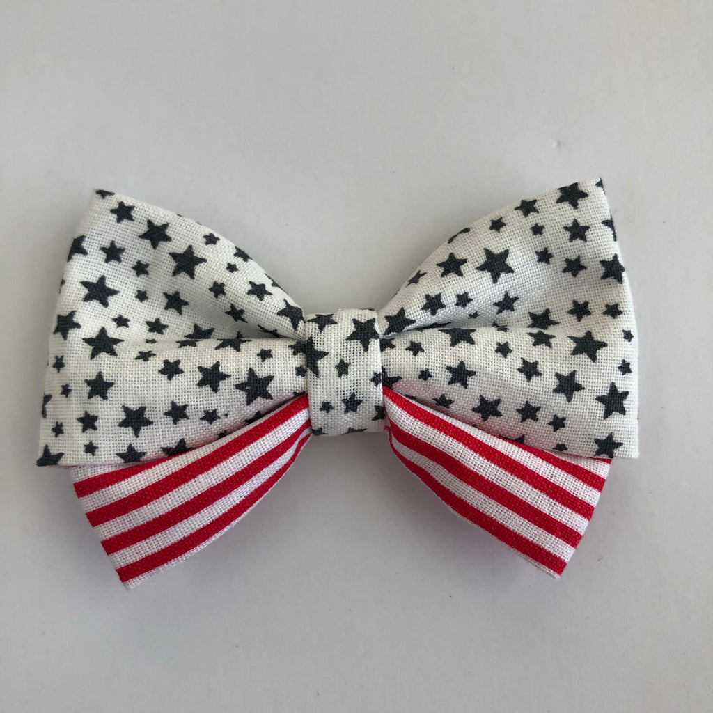 Stars & Stripes Madi Cotton Bow