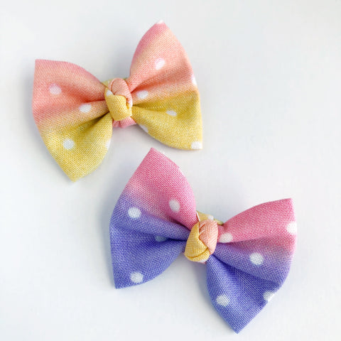 "Rainbow Dots 2"" pigtail set"