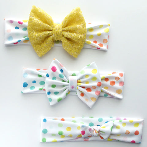 Summer Dot Headbands