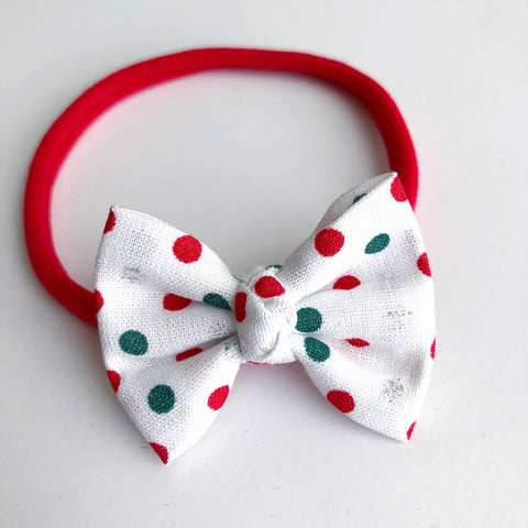 "Christmas Dot 2"" Chloe bow"