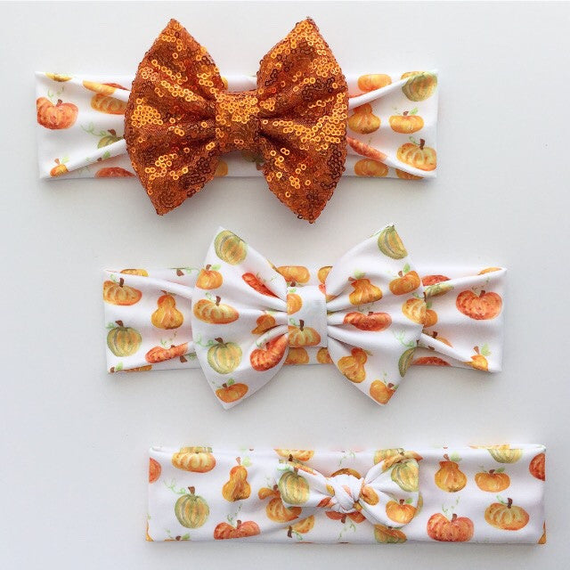 Pumpkin Headbands