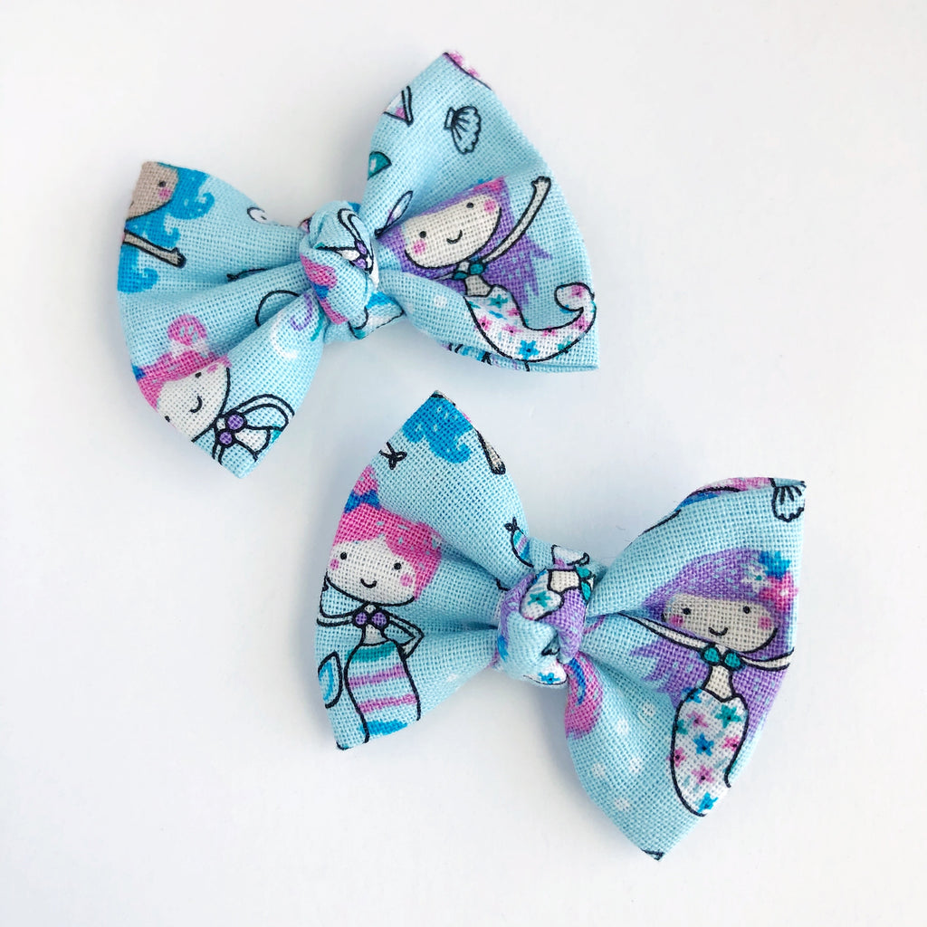 "Lil' Mermaids 2"" pigtail set"