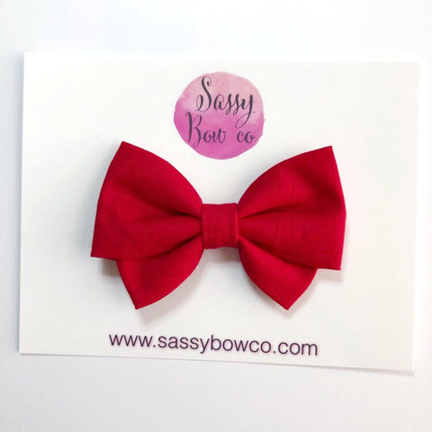 Red Madi Cotton Bow
