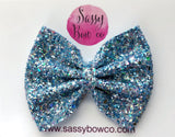 Large Crystal Waters Glitter Bow