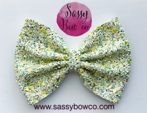 Large Lemondrop Glitter Bow