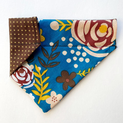 Autumn Floral Reversible Dog Bandana