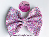 Large Lollipop Glitter Bow