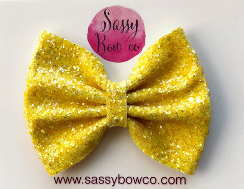 Large Candy Corn Glitter Bow