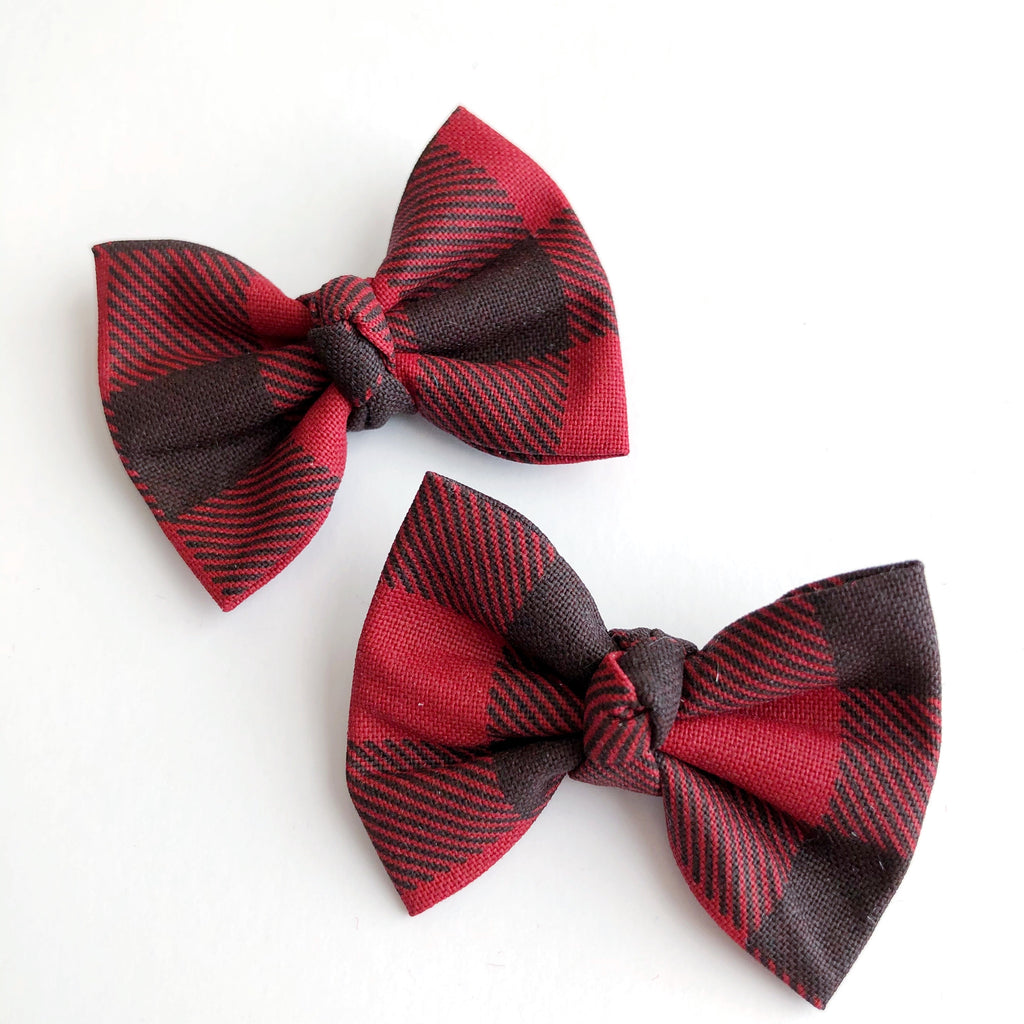 "Buffalo Plaid 2"" pigtail set"