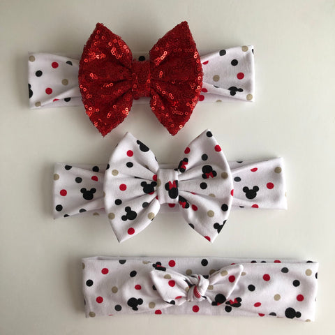 Mickey Dot Headbands