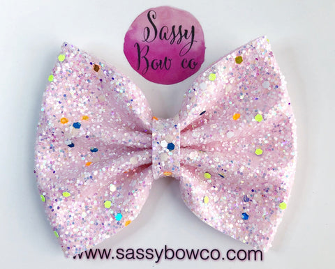 Large Glow In The Dark Glitter Bow