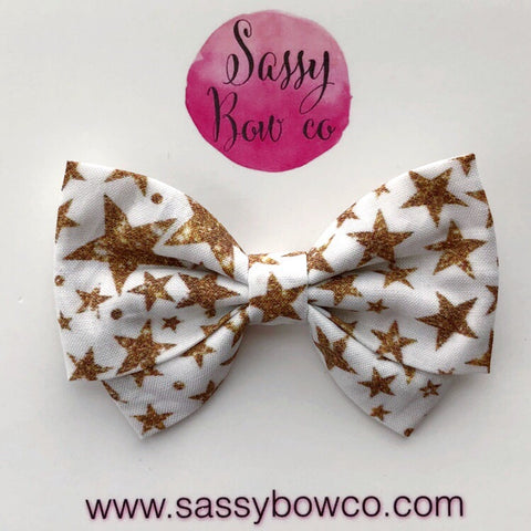 Gold Glam Star Madi Cotton Bow