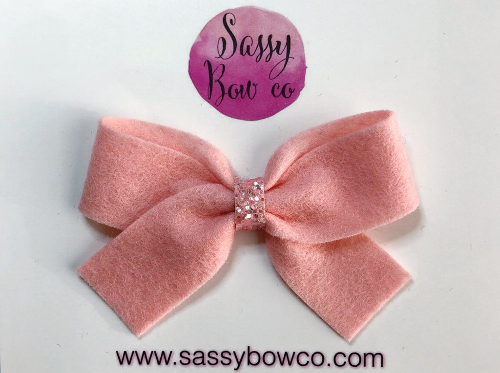 Blush Pink Anniston Bow