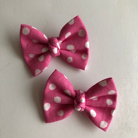 "Mickey pink Dot 2"" pigtail set"