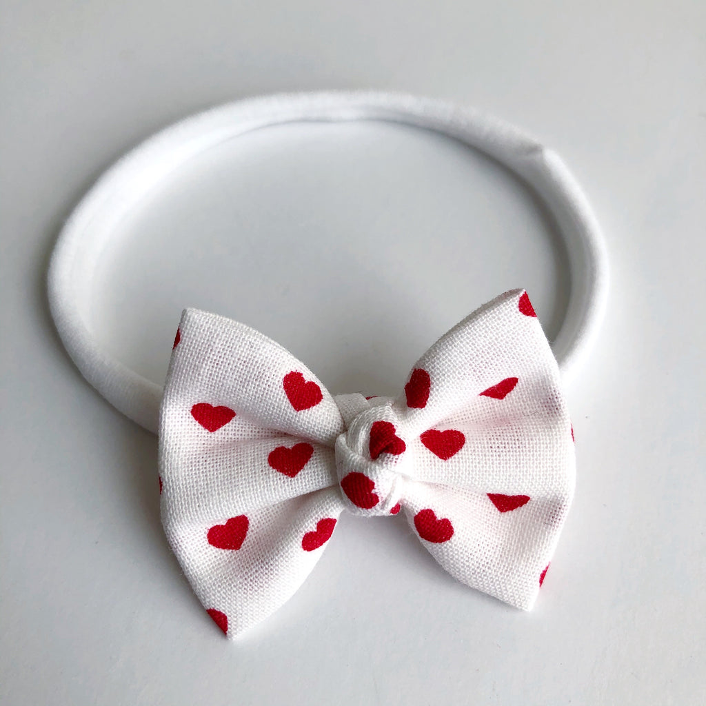 "White Hearts 2"" Chloe bow"