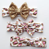 Leopard Pink Glam Headbands