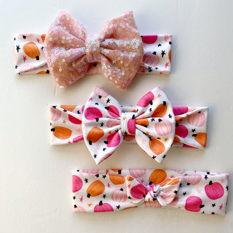 Girly Pumpkins Headbands