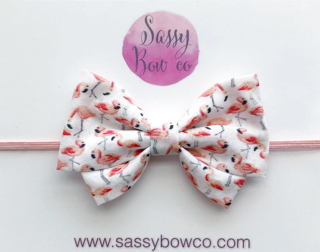 Flamingo Madi Cotton Bow