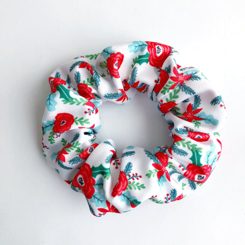 Christmas Floral Scrunchie