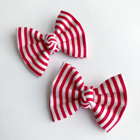 "Candy Cane Stripes 2"" pigtail set"