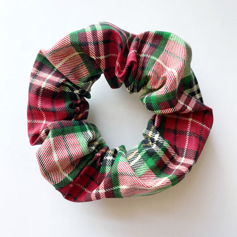 Holiday Plaid Cotton Scrunchie