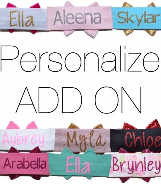 Personalize ADD ON (bow wraps and top knots)