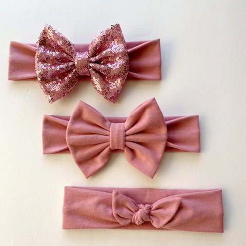 Dusty Rose Headbands