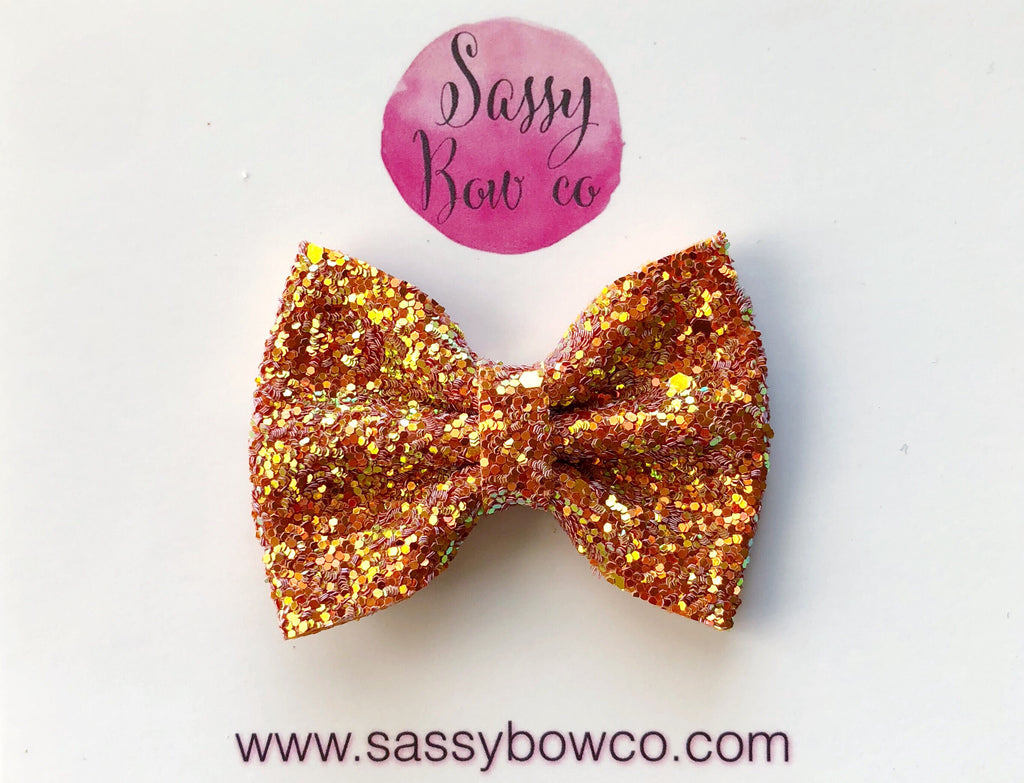 Small Fall Harvest Glitter Bow