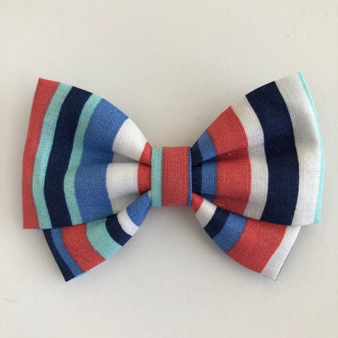 Resort Stripes Madi Cotton Bow