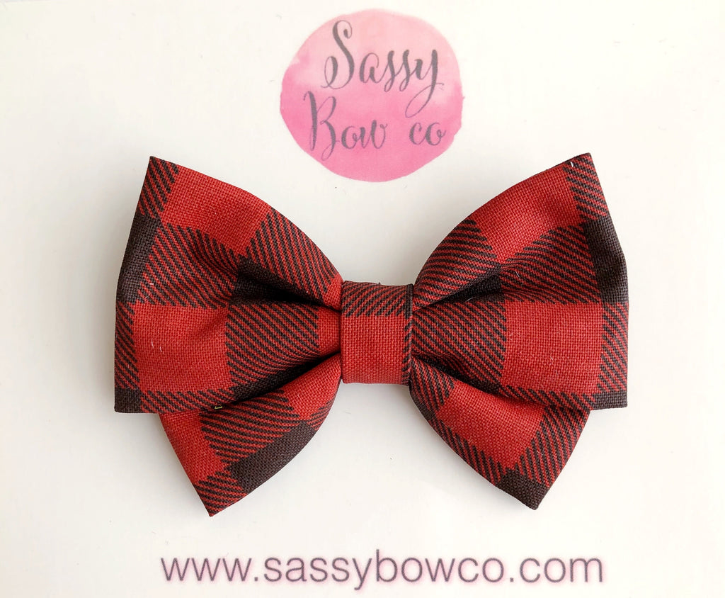 Buffalo Plaid Madi Cotton Bow