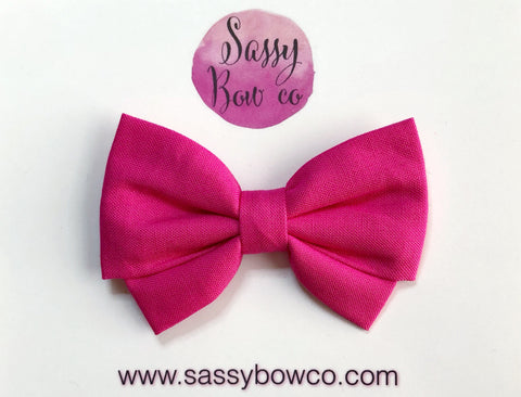 Hot Pink Madi Cotton Bow