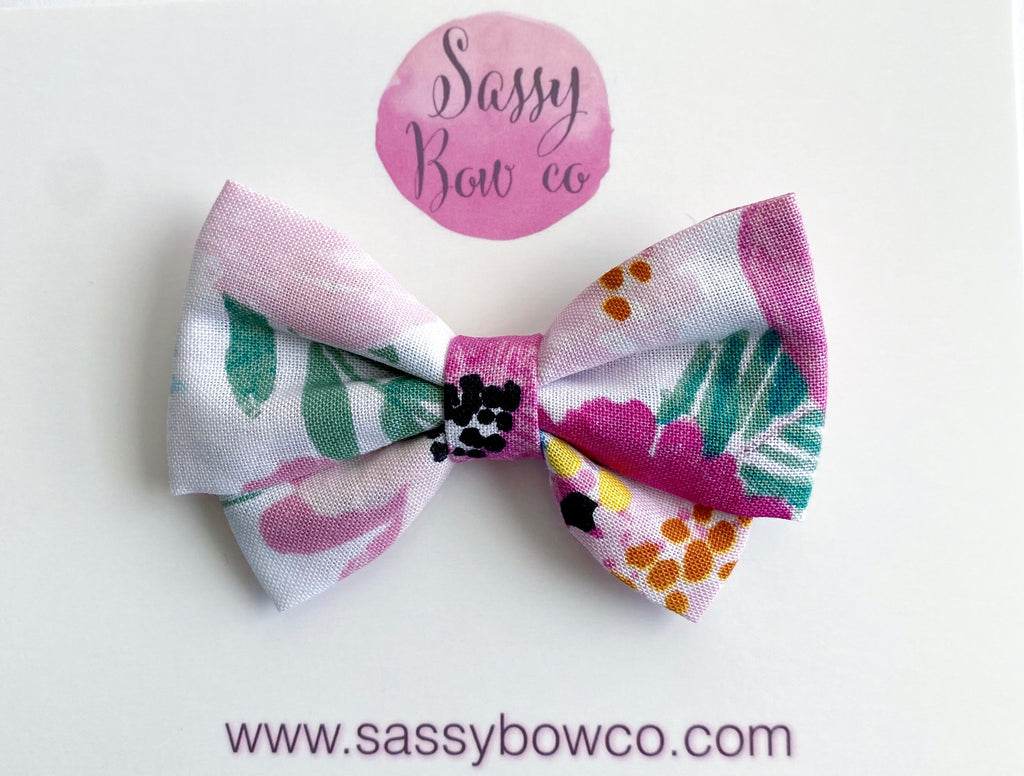 Poppy Floral Madi Cotton Bow