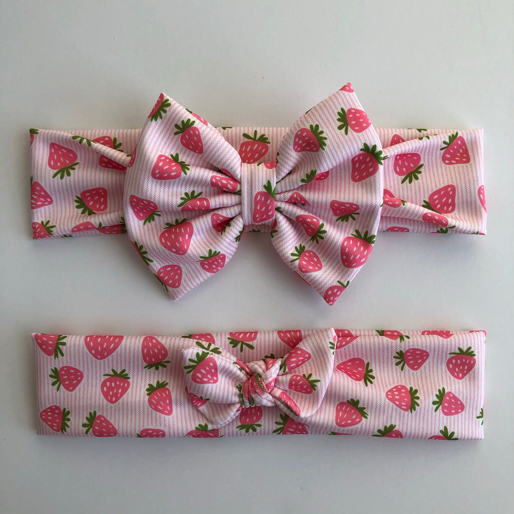 Strawberry Stripes Headbands