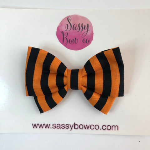 Halloween Stripe Madi Cotton Bow