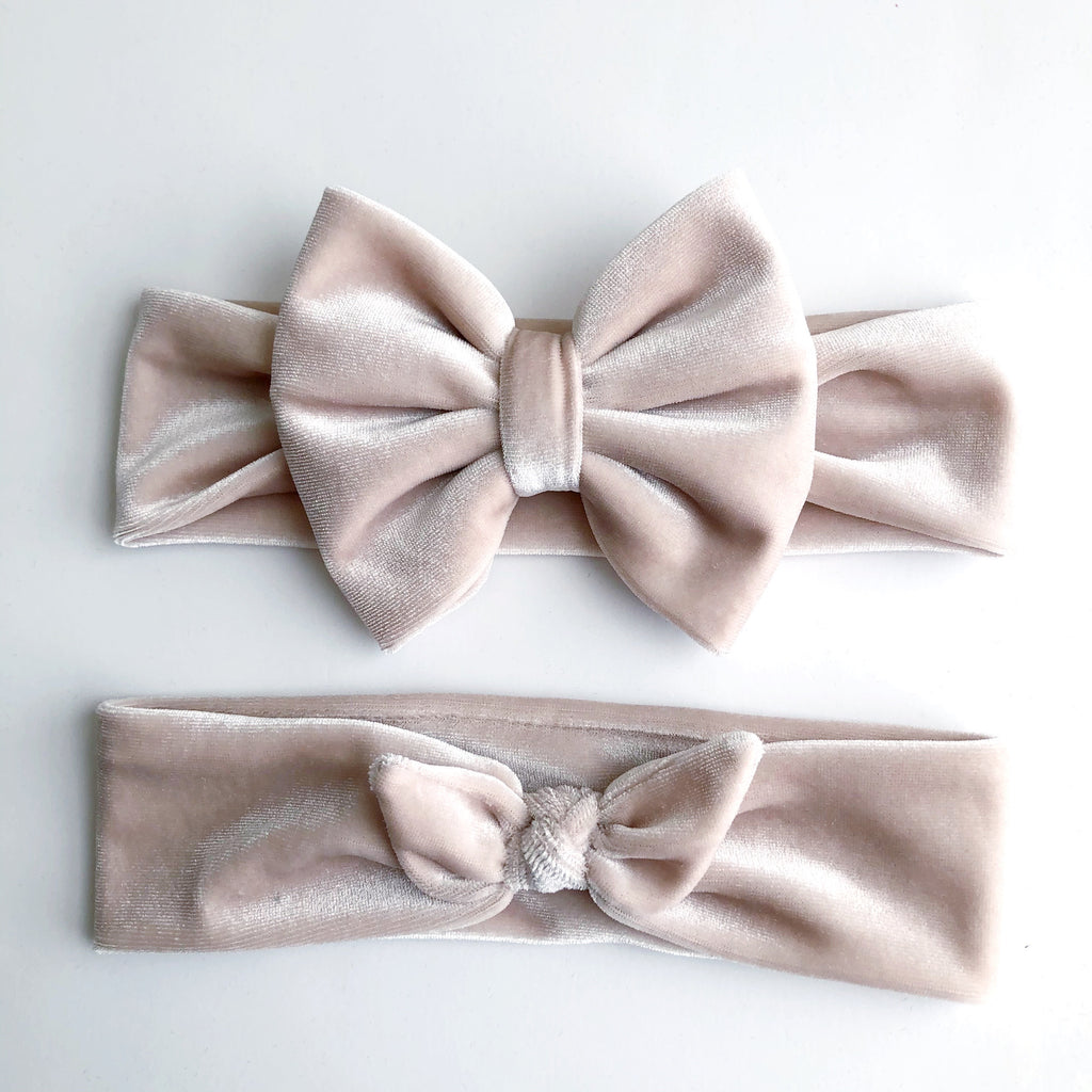 Cream Velvet Headbands