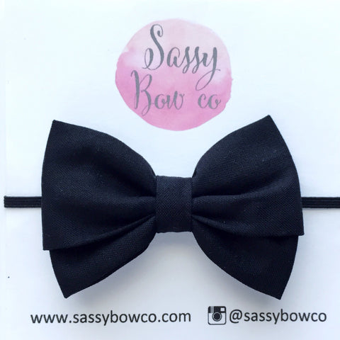 Black Madi Cotton Bow