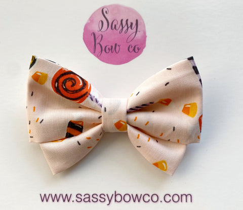 Halloween Candy Madi Cotton Bow