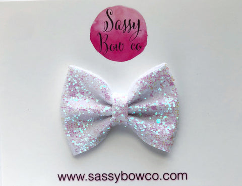 Small Fairy Dust Glitter Bow