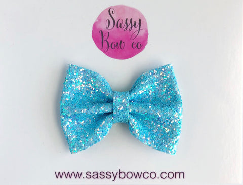 Mermaid Water Small Glitter Bow