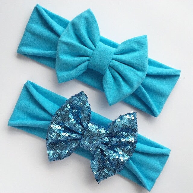 Crystal Blue Headbands