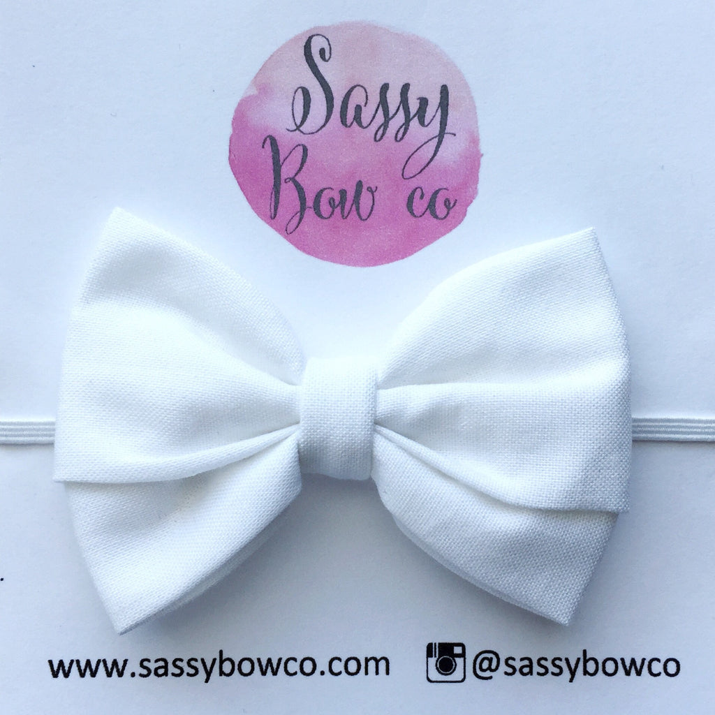 White Madi Cotton Bow