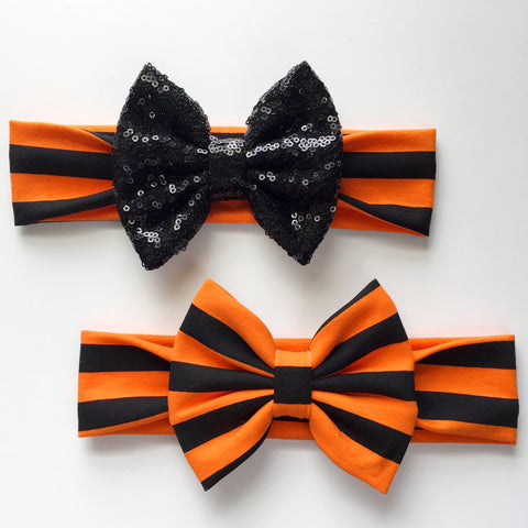 Halloween Stripe Headbands