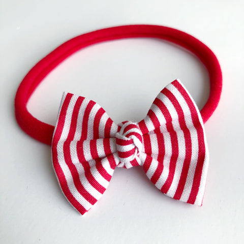 "Candy Cane Stripe 2"" Chloe bow"