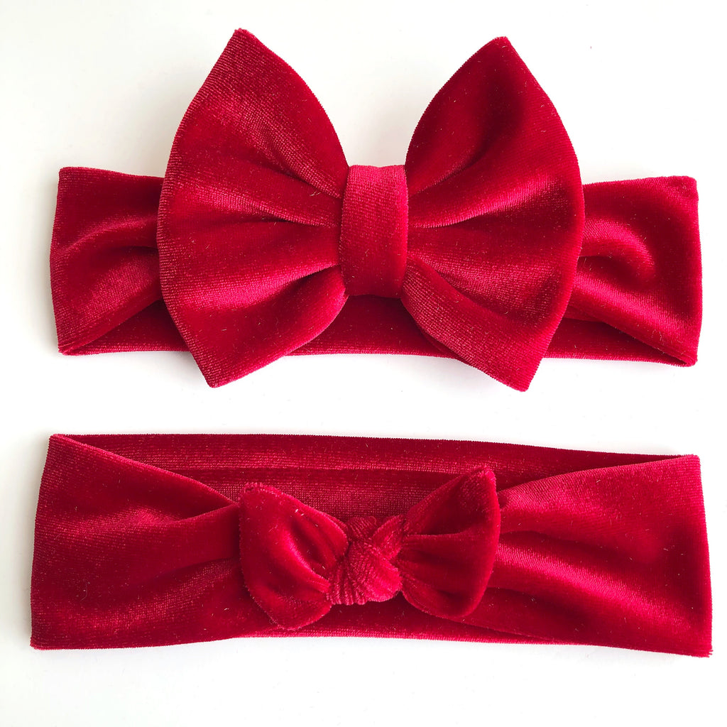 Holiday Red Velvet Headbands