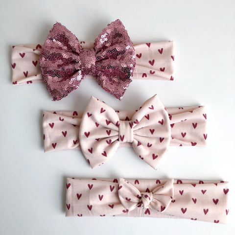 Simple Hearts Headbands