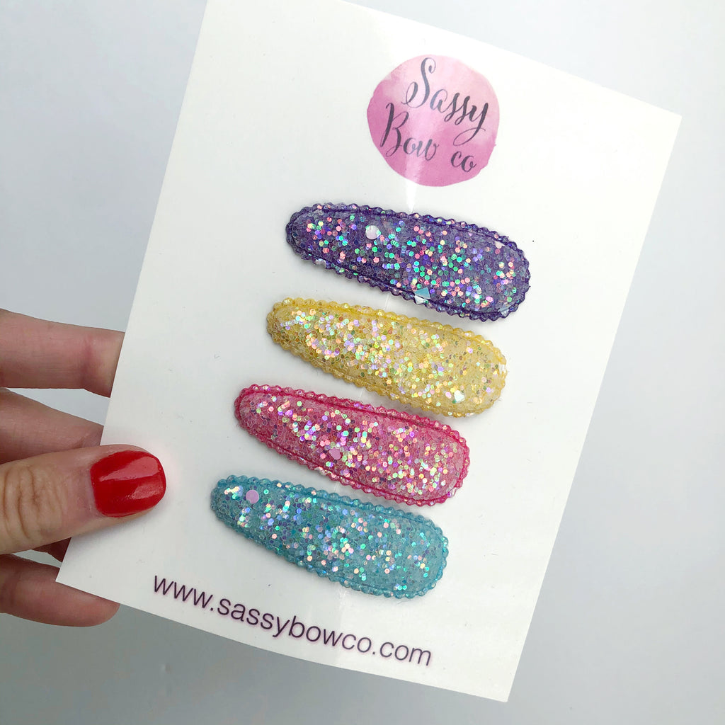 Summer Glitter Snap Clip Set