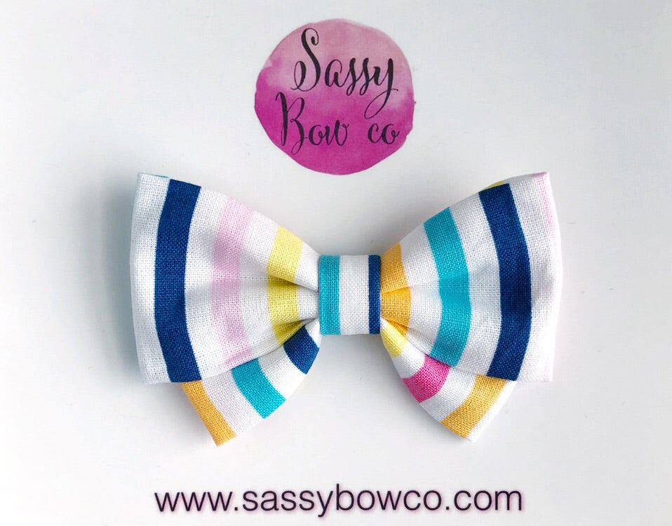 Resort Stripe Madi Cotton Bow