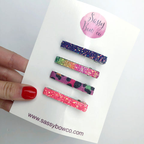 Wild Child Glitter Clip Set