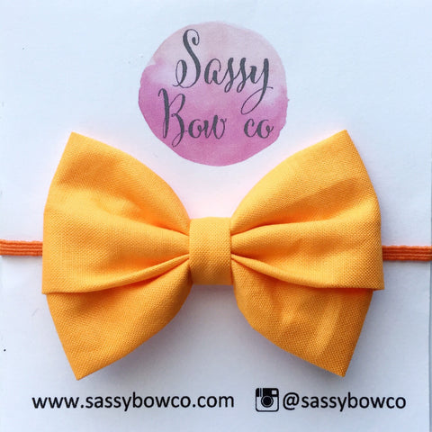 Orange Madi Cotton Bow